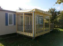 Campsite France Brittany, Pergola